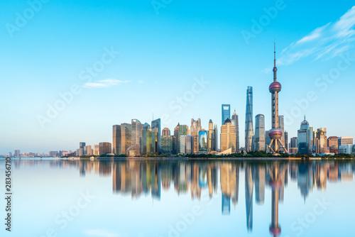 Foto auf AluDibond Shanghai Shanghai Lujiazui Architectural Landscape Skyline..