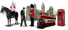 Few London Images On City Back...