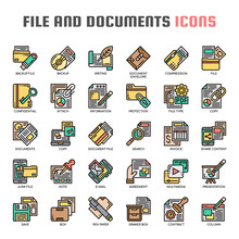 File And Documets , Thin Line And Pixel Perfect Icons