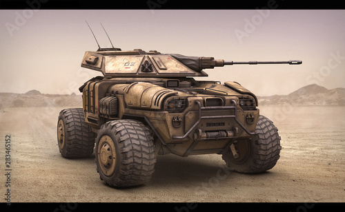 Fotografía  3d illustration of sci fi APC