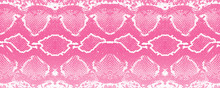 Pink Snake Texture Background Print Vector Repeating Seamless