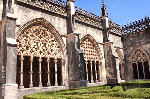 Photo Patio in dominican monastery in Batalha, Portugal