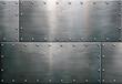 Leinwandbild Motiv Grunge metal background, steel plate texture
