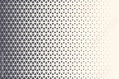 Obraz Triangle Vector Abstract Geometric Technology Background. Halftone Triangular Retro 80s Simple Pattern. Minimal Style Dynamic Tech Wallpaper - fototapety do salonu
