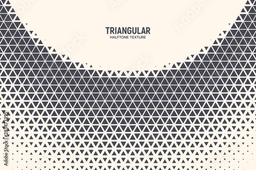 Cuadros en Lienzo Triangle Shapes Vector Abstract Geometric Technology Curved Structure Isolated on Light Background
