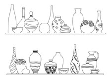 Collection Of Jugs, Vases, Dis...