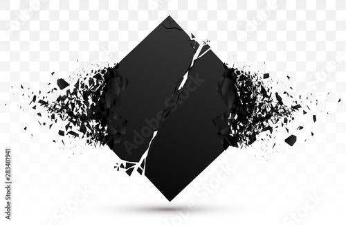 Cuadros en Lienzo  Explosive Black Stone