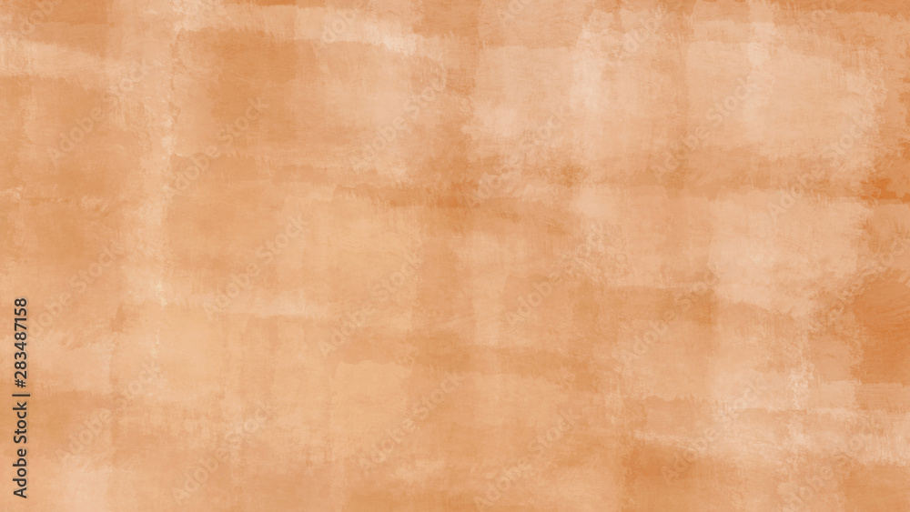 Fototapeta Abstract Design of Light Orange Block Color Background with Realistic Brush Strokes.