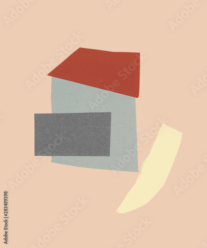 Illustration of house by path - 283489398