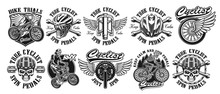 Set Of Vintage Designs Of Bycicle Theme