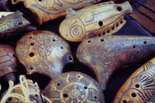 Ocarina, Whistle — Wind Musical Instrument, Kind Of Whistle Vascular Flute. There Are Earthenware, Porcelain And Wooden Ocarinas