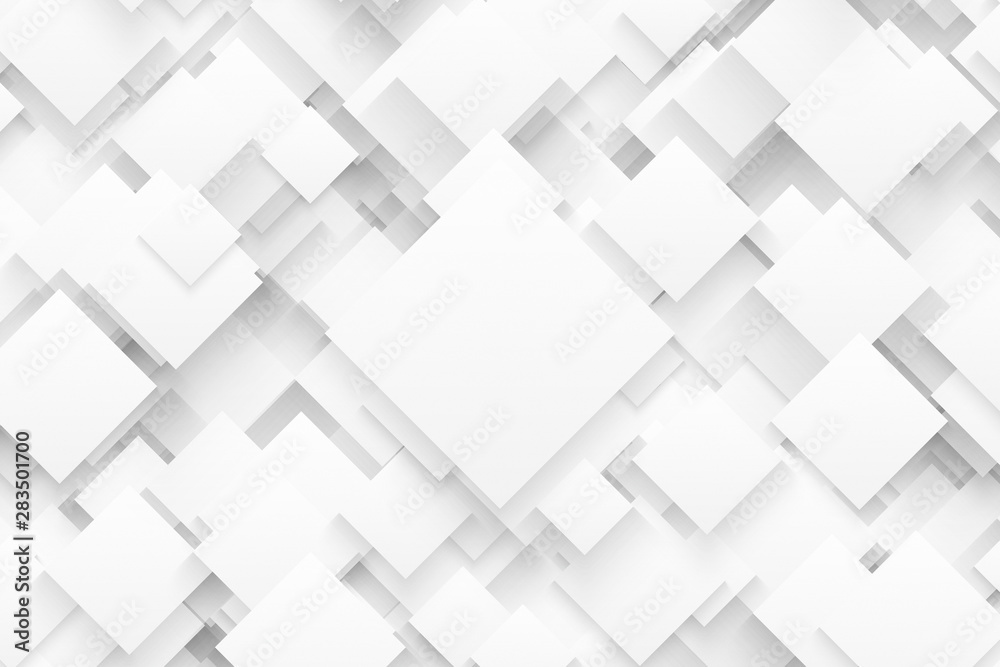 3D Render Science Technology Structure White Abstract Background. Ultra High Quality Wallpaper