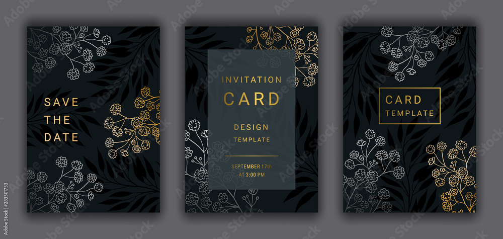 Photo Art Print Wedding Invitation Card Template Eps 10