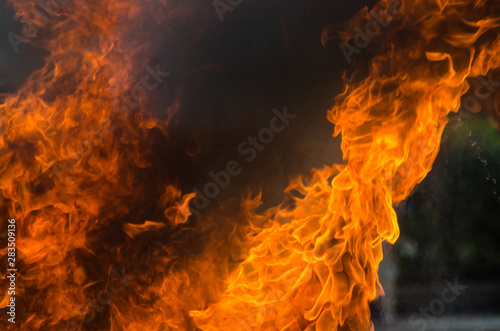 Recess Fitting Fire / Flame Blaze fire flame background and textured