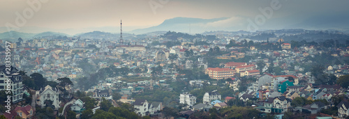 Poster de jardin Paris Vietnam's littel Paris Da Lat cityscape. Beautiful view of Dalat, Vietnam. Panorama