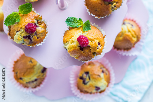 Cuadros en Lienzo muffinki z malinami