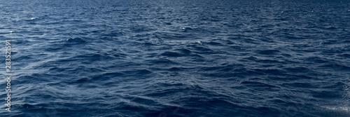 Fototapeta Panoramic texture of sea water in the open blue ocean obraz