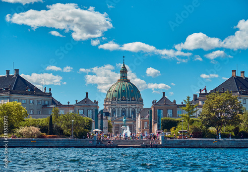 Amalienborg is Palace Complex in Copenhagen. Wallpaper Mural