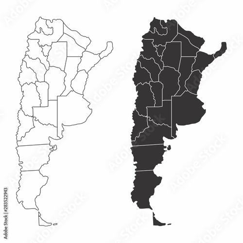 Argentina provinces maps Wallpaper Mural