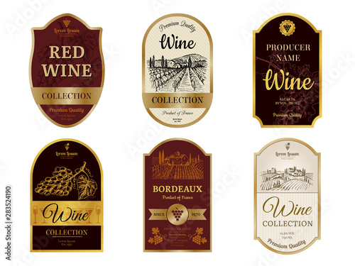 Fotografia  Wine vintage labels