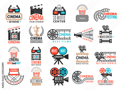 Cinema badges Wallpaper Mural