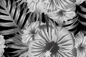 Black white exotic pattern.