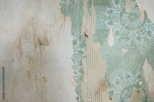 Obraz old vintage wallpaper. grunge background - fototapety do salonu
