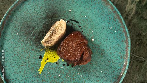 Food Gourmet beef Veal meat Medallions, Luxury Lifestyle Expensive Restaurant Re Fototapete
