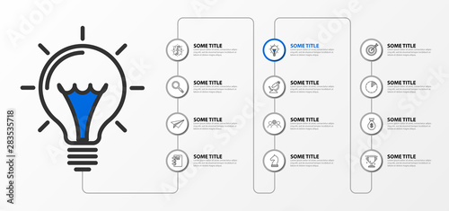Tela  Infographic design template. Creative concept with 12 steps