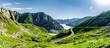 canvas print picture - Nebel über dem col de Tentes bei Gavarnie in den Pyrenäen