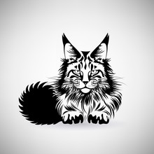 Portrait Of A Cat With A Preda...