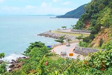 Chalerm Burapha Chonlathit Highway View From Noen Nangphaya View Point , Chanthaburi, Thailand.