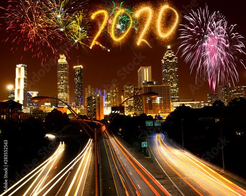 Atlanta New Years Eve 2020.New Year 2020 Fireworks Over Atlanta Georgia Usa Buy
