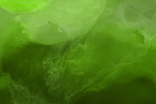 Hand Painted Alcohol Ink Background. Abstract Delicate Green Texture. Contemporary Wallpaper.