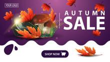 Autumn Sale, Purple Banner Wit...