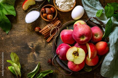 Photo  Apple baking seasonal concept