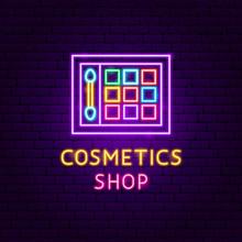 Cosmetics Shop Neon Label