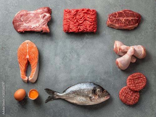 Stampa su Tela Carnivore or keto diet concept