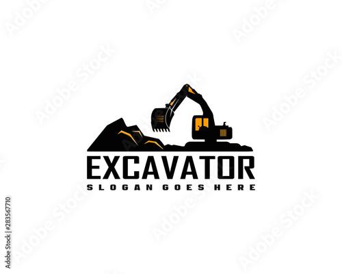 Carta da parati Excavator logo template vector