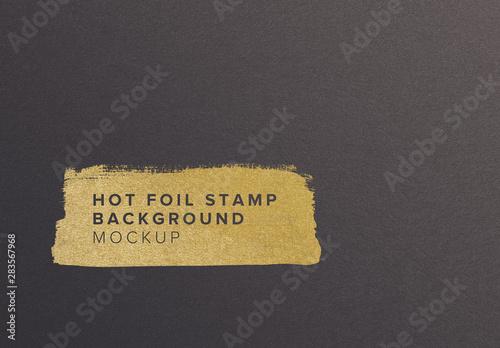 Fototapeta Paper with Hot Foil Mockup obraz