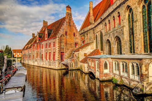 Wall Murals Bridges Sights along the canals of Bruges Belgium