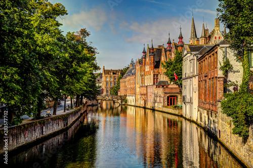 Poster Bridges Sights along the canals of Bruges Belgium