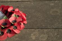 War Memorial Wreath Of Poppies