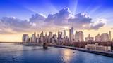 Fototapeta Fototapeta Nowy Jork - panoramic view at manhattan while sunset