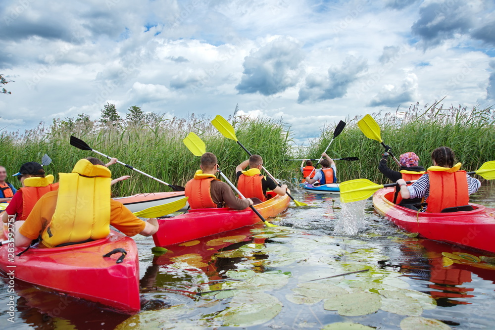 Fototapety, obrazy: Rafting on rivers and lakes. Kayaking and Canoeing