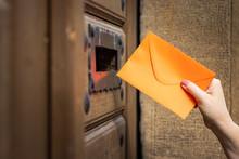 Woman Sending Love Letter