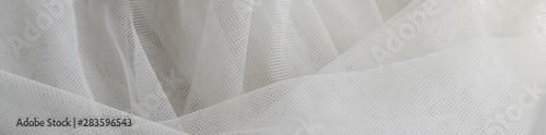 Fototapeta  Wedding White Silk transparent fabric