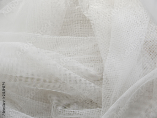 Fotografie, Obraz  Wedding White Silk transparent fabric