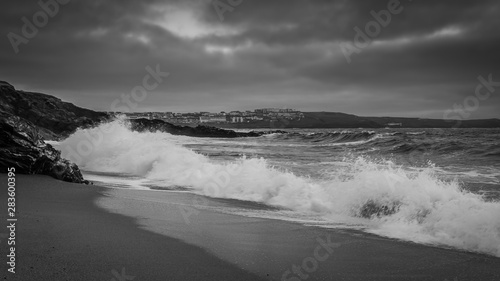 Fotografia Little Fistral Near Newquay Headland Cornwall