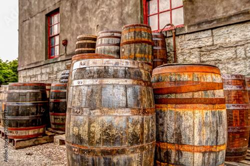 Casks at an Irish Whiskey distillery Fototapete